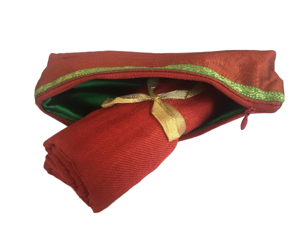 New Indian Stole Scarf Neck Wrap Viscose Shawl with Cosmetic Pouch, Coral a32cd4dc-ae86-4421-a1ea-d8bd8e585241
