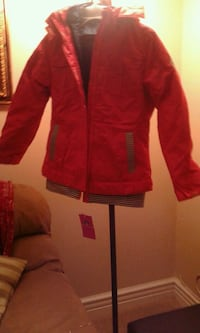 red and white zip-up jacket Riverside, 92509
