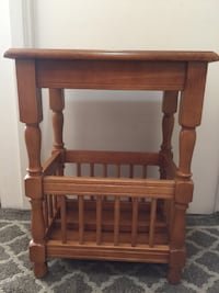 Solid Wood Side Table Bookcase / Magazine Storage Vancouver
