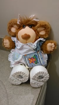 """VINTAGE- 1985 CABBAGE PATCH FURSKINS """"PERSIMMON"""" COLLECTIBLE 15"""" BEAR (STILL HAS THE STORYBOOK)"""