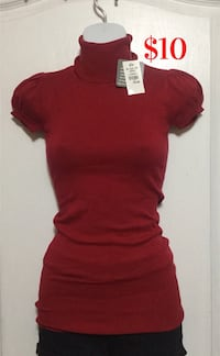 Red Turtleneck Top: Size Small (Brand new with tags) Brampton, L7A