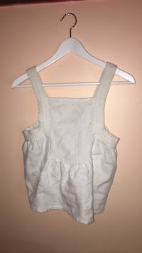White sleeveless top made in India (small) | clothing Edmonton, T6X 0K8