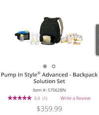 Backpack double pump