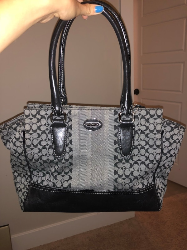 a1d19906349 Used Coach black/grey purse used for sale in Newnan - letgo