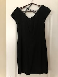 Black off the shoulder dress. Size 8. In great condition.  Mooresville, 28117