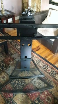 Powell Matte Black Flat Panel TV and Component Stand
