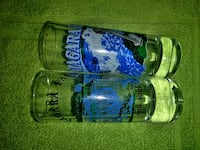 blue and green glass bottle 996 mi