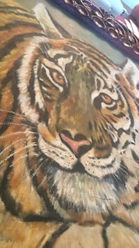 Aswan.R Tigar Oil painting. The EYES follow You! Brooksville, 34601