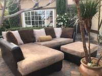 Like mew very nice sectional with matching ottoman nice color will match many home decor  Las Vegas, 89146