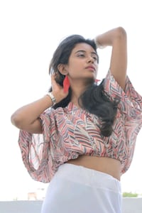 women's pink and white kimono sleeve crop top Hyderabad, 500019