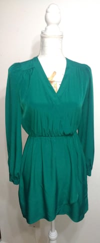 Emerald Green ASOS Surplice Dress