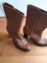 Bown/tan leather upper boots size 37 Mississauga, L5L 2M8