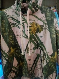 green and brown tree camouflage textile