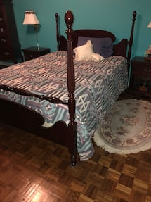 Queen size Gibbard solid mahogany bedroom set