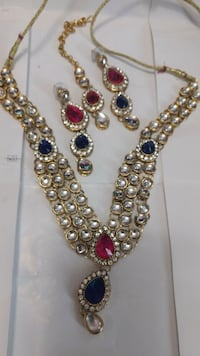 silver and red gemstone necklace Brampton, L6Y 5R7