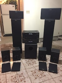 black and gray home theater system Edmonton, T6R 0R9