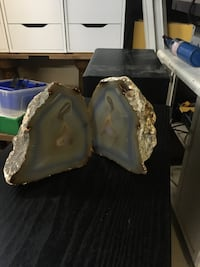 Grey and blue geode stone Calgary, T2Y 2Y6