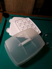 white and blue plastic container Lehigh County