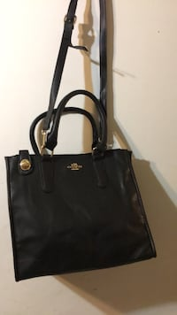 women's black leather tote bag Laredo, 78043