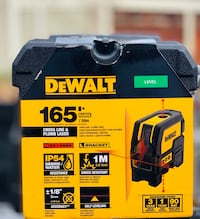 DEWALT Self Leveling Cross Line and Plumb Spots Laser Level  Model : DW0822  Brand: Dewalt  Condition: new Concord, 94521