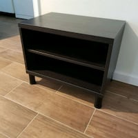 black wooden 3-layer shelf Houston, 77079