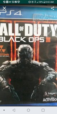 Call of Duty Black Ops III PS4 game case Baltimore, 21201