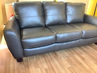 New Grey Leather Sofa