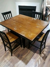 Solid wood table with 4 chairs Ajax, L1S 5K3