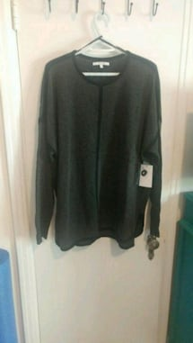 New with tags Alfred Sung dark grey sweater