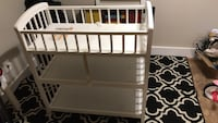 white wooden crib with changing table Gaithersburg, 20878