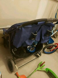 baby's black and blue jogging stroller Brampton, L7A 0H1