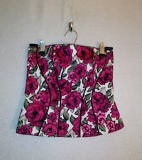 WHBM PINK FLORAL BUSTIER