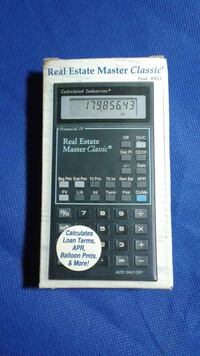 REAL ESTATE MASTER CLASSIC PROFESSIONAL CALCULATOR Arlington, 22202
