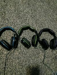 black and green corded headphones West Valley City, 84120