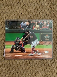 Howie Kendrick Signed World Series Game Winning HR Picture Herndon, 20171