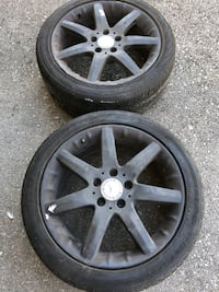 2 Rims of 2002 Mercedes Rims are plastic dipped Will peel of easily
