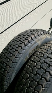 2 new tires 175/80/13. 5 on 4.5 trailer 2307 mi