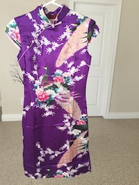 Like-new purple above-knee cheongsam/Chinese dress - size XS/S Halton Hills, L7G 0B4