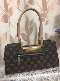 black and brown Louis Vuitton leather tote bag Coquitlam, V3C 4J6