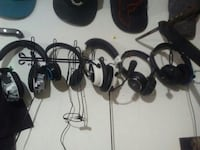 five black corded headsets Surrey, V4N 0K3