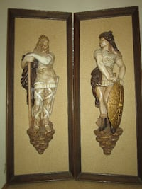 RARE: Large Vintage Chalkware Decor