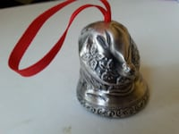 Santa Claus Heavy Metal Ornament classic silver red christmas Rockville