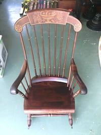 S Bent & Bros Colonial Antique Wooden Rocking Chair Pristine Condition