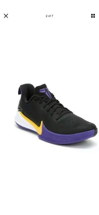 NIKE KOBE Mamba Focus Lakers Purple Yellow Basketball Sneakers Sz 14