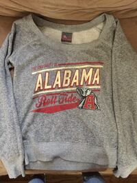 Gray and red harley-davidson pullover hoodie
