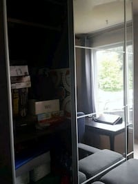 black wooden cabinet with mirror Chambly, J3L 1N8