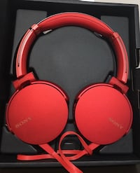 Sony XB550AP EXTRA BASS On-Ear Headphones with In-line Controls - Red Richmond Hill, L4B 0G9