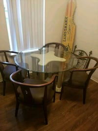 round glass top table and four chairs  College Station, 77840