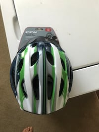 Green and black bicycle helmet for children's  Vancouver, V6A 3K2