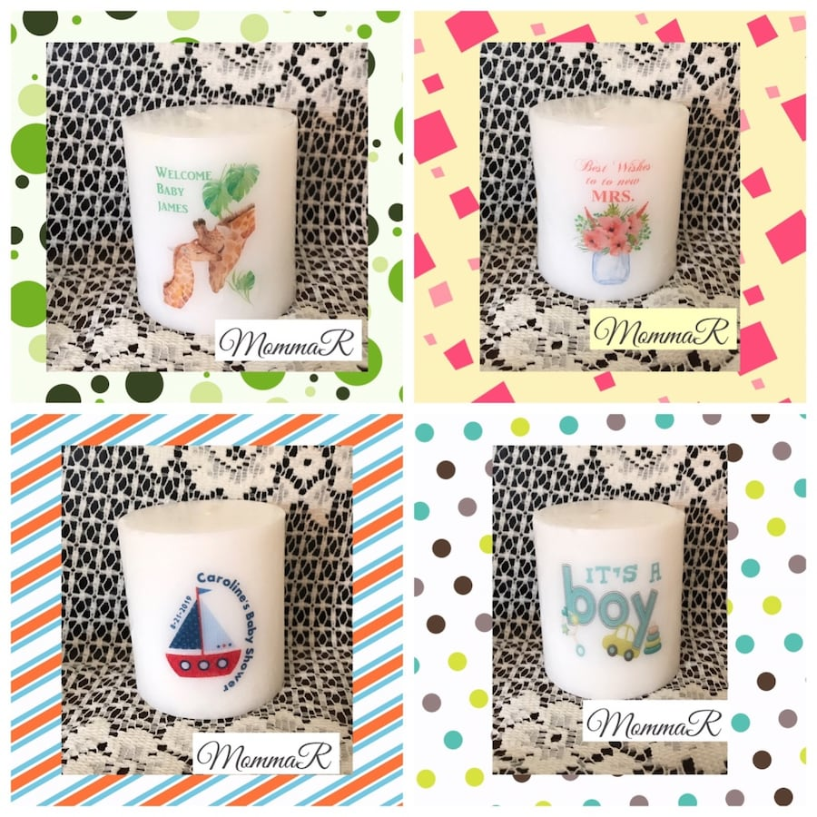 Personalized  shower favors, baby shower, bridal shower or wedding